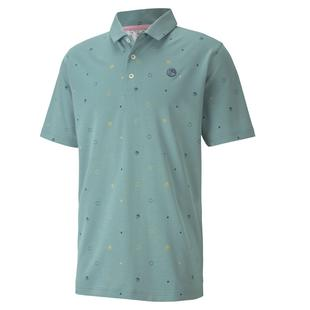 Men's AP Legacy Print Short Sleeve Polo
