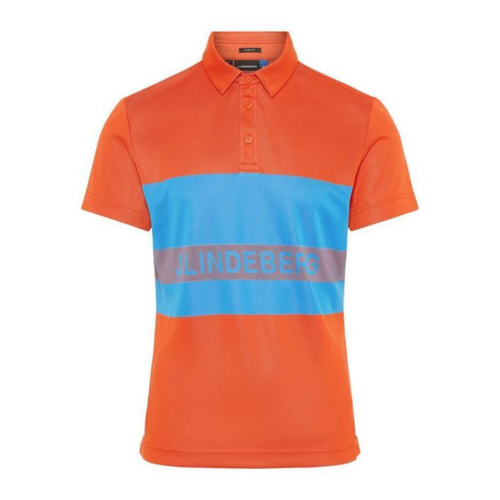 Men's Theo Slim fit TX Jaquard Short Sleeve Polo