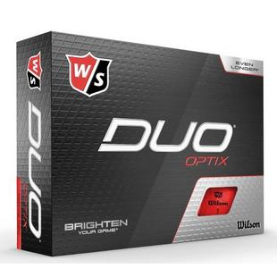 Duo Optix Golf Balls - Red
