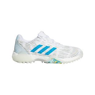 Chaussures CODECHAOS Primeblue sans crampons pour femmes – Blanc/Bleu