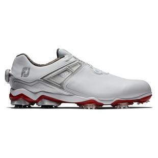 Men's Tour X Boa Spiked Golf Shoe - White/Red