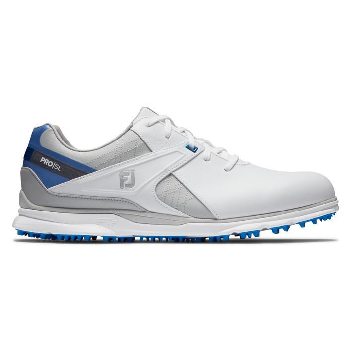 Chaussures Pro SL sans crampons pour hommes - Blanc/Bleu/Gris
