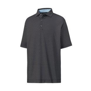 Men's Lisle Ogee Print Short Sleeve Polo