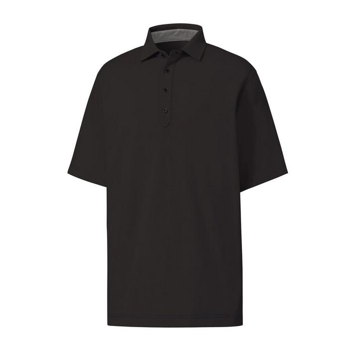 Men's Lisle Solid Short Sleeve Polo