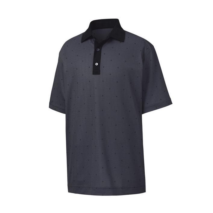 Men's Birdseye Argyle Print Short Sleeve Polo