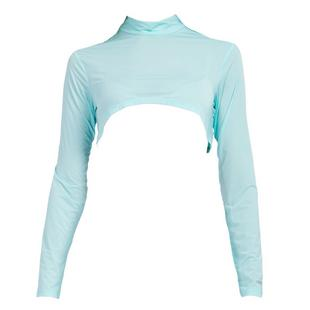 Women's Sunsense Sun Protection Crop Mock Neck Long Sleeve Top