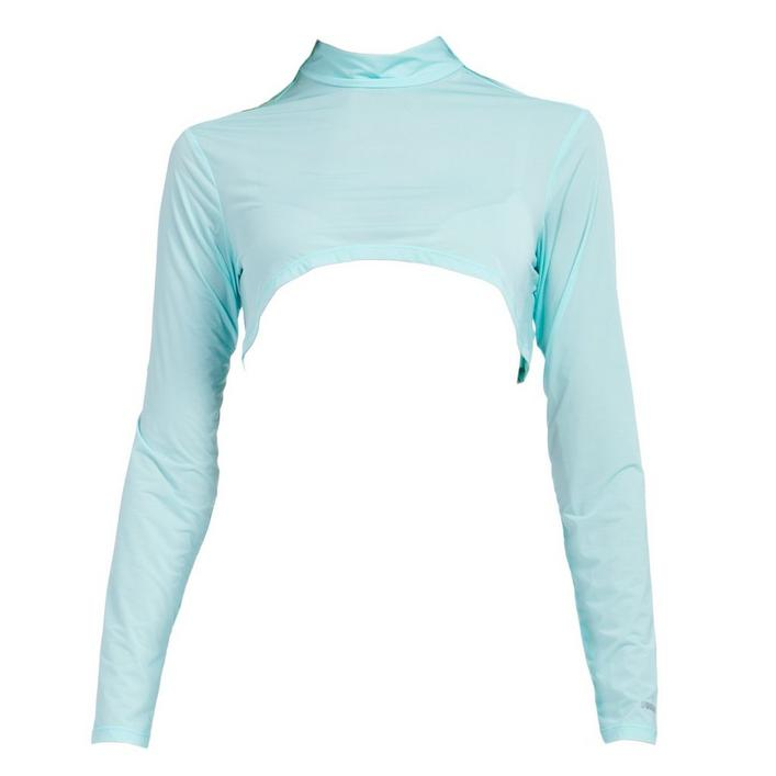 Women's Sunsense Sun Protection Crop Mock Neck Long Sleeve Top