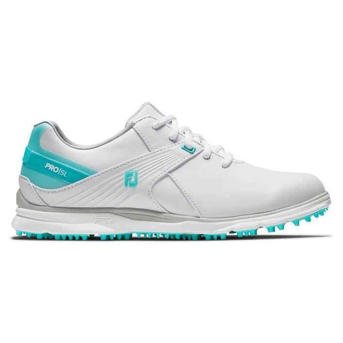 Chaussures Pro SL sans crampons pour femmes - Blanc/Bleu pâle