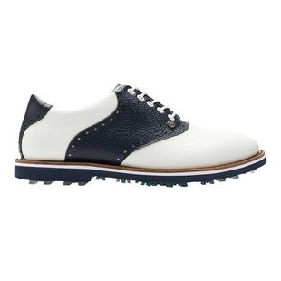 Men's Saddle Gallivanter Spikeless Golf Shoe - White/Navy
