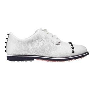 Women's Stud Cap Toe Spikeless Golf Shoe - White/Multi