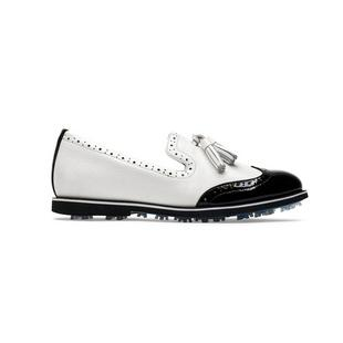 Women's Brogue Cruiser Spikeless Golf Shoe - White/Black