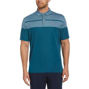 Men's Birdseye Block Short Sleeve Polo