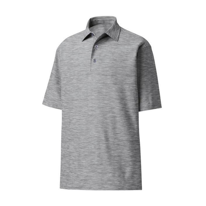 Men's Space Dye Lisle Self Collar Short Sleeve Polo