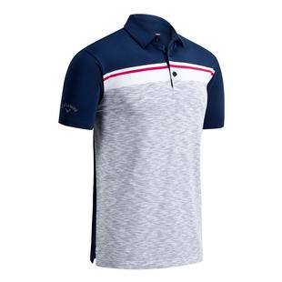 Men's Jacquard Space Dye Short Sleeve Polo