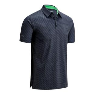 Men's Swing Tech All-Over Chevron Printed Short Sleeve Polo