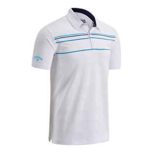 Men's Engineered Chest Stripe Short Sleeve Polo