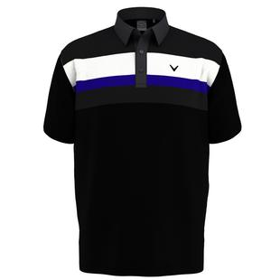 Men's Geo Print Short Sleeve Polo