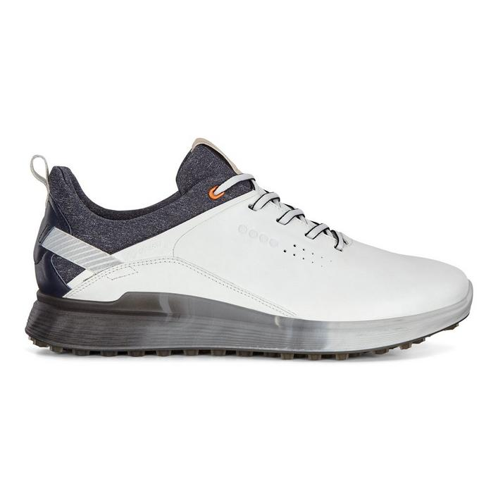 Men's Goretex S-Three Spikeless Golf Shoe - White/Grey