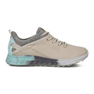 Chaussures Goretex S-Three sans crampons pour femmes - Beige/Gris/Bleu pâle