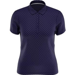 Women's All Over Printed Polka Dot Short Sleeve Polo