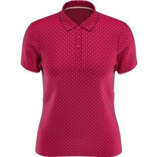 Women's All Over Printed Polka Dot Short Sleeve Polo