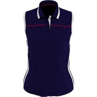 Women's Colourblock Sleeveless Polo