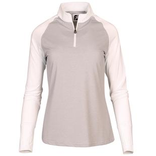 Women's Quarter Zip Sun Protection Pullover Long Sleeve Top