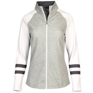 Women's Raglan Colourblock Full Zip Sweater