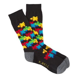 Men's Jigsaw Puzzle Crew Sock