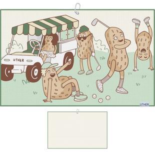Serviette Golf Nuts en microfibre pour chariot