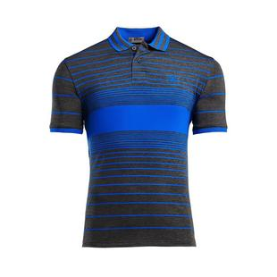 Men's Centre Stripe Short Sleeve Polo