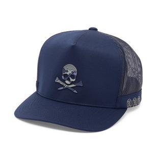 Men's Camo Skull Trucker Cap