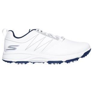 Chaussures Go Golf Torque à crampons pour hommes - Blanc/Bleu marine