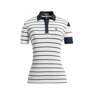 Women's Contrast Stripe Short Sleeve Polo