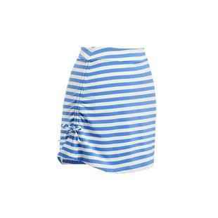 Jupe-short plissée à rayures, 17 po