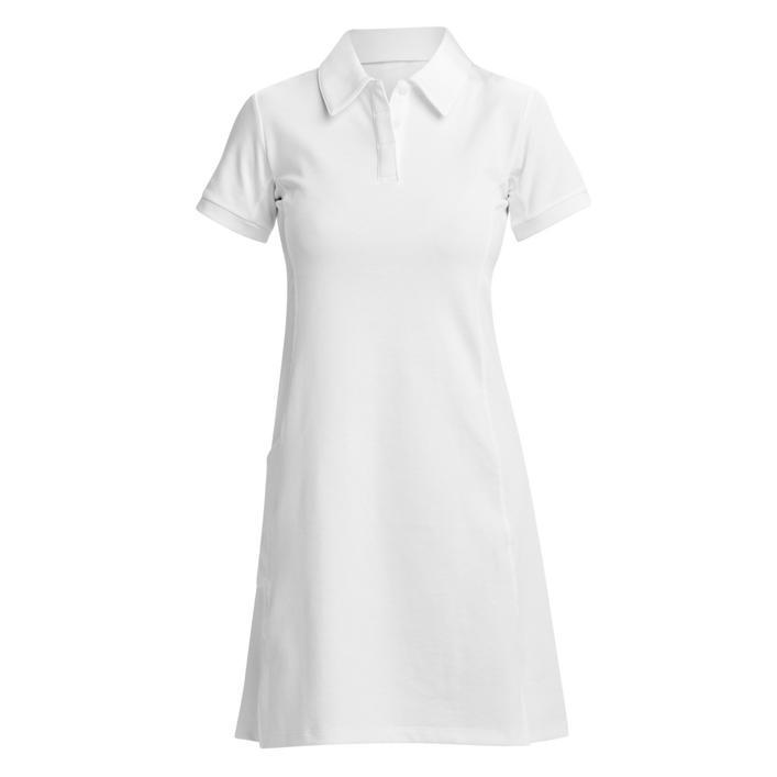 Women's Cross Court Solid Short Sleeve Dress