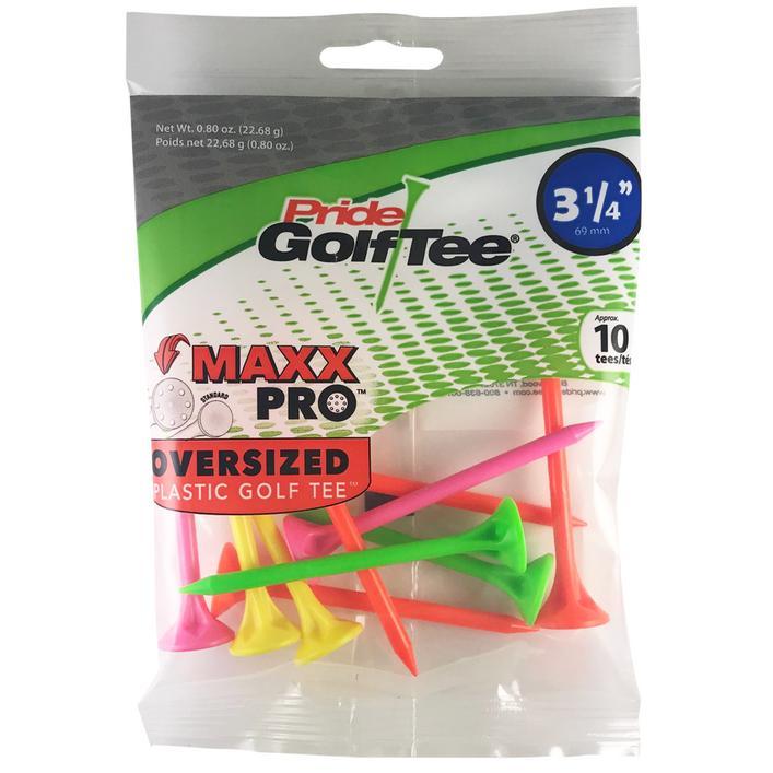 Tés MaxxPro Neon Mix - Paquet de 10