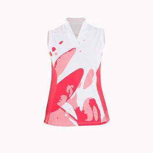 Women's Beth Floral Printed Mock Neck Sleeveless Top