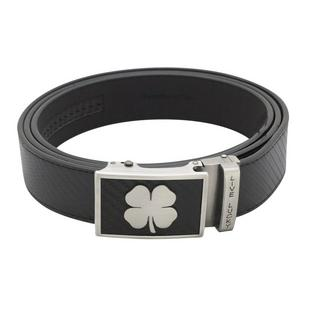 Men's Clover Buckle Leather Belt