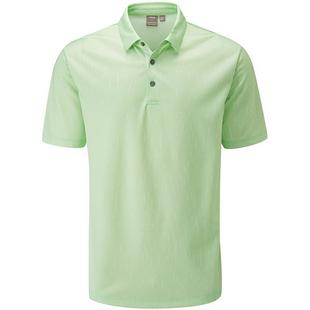 Men's Linear Jacquard Short Sleeve Polo