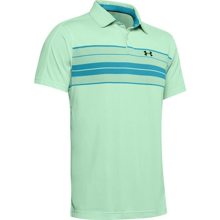 Men's Vanish Chest Stripe Short Sleeve Polo