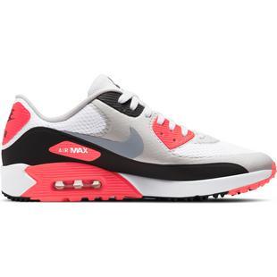 Chaussures Air Max 90 G sans crampons pour hommes - Blanc/Gris/Rouge