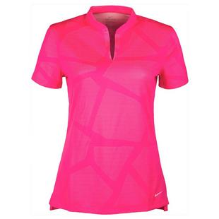 Women's Victory Jaquard Short Sleeve Polo