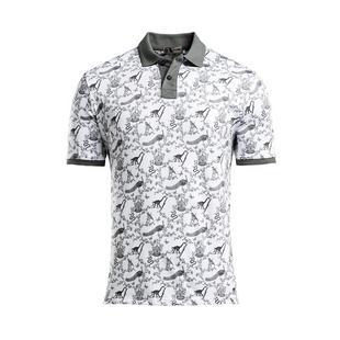 Men's Toile Short Sleeve Polo