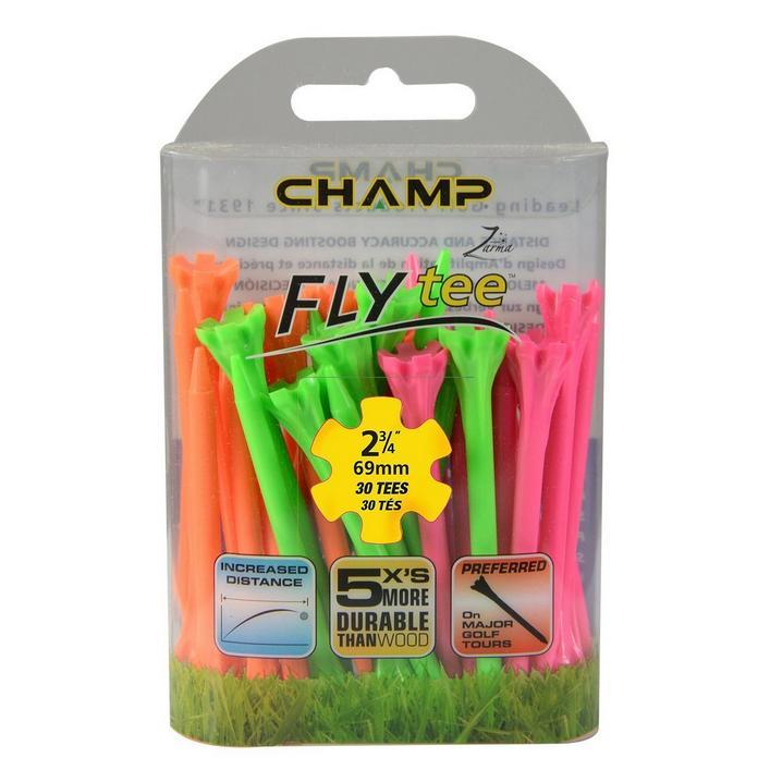 FLYtee Neon 30 Pack - 2-3/4 Inch