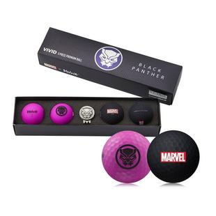 Vivid 4 Pack Gift Set Golf Balls - Black Panther Edition