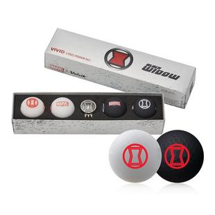 Vivid 4 Pack Golf Balls - Black Widow Edition