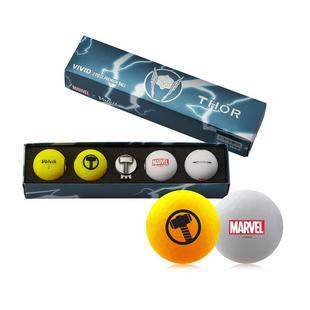 Marvel Vivid 4 Pack Gift Set Golf Balls - Thor Edition