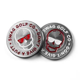 Don't Give a Putt Skull Ball Marker - 2 Sided Canadian Edition