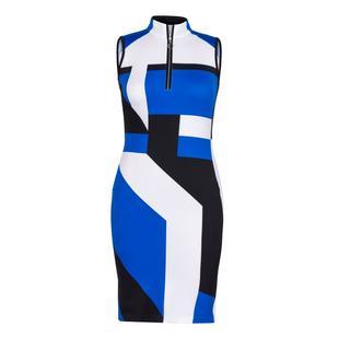 Women's Colourblock Mockneck Sleeveless Dress